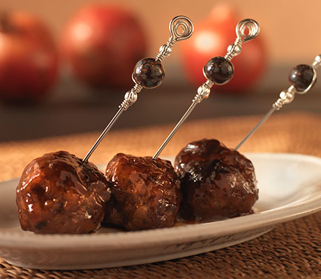 Pomegranate Glazed Lamb Meatballs