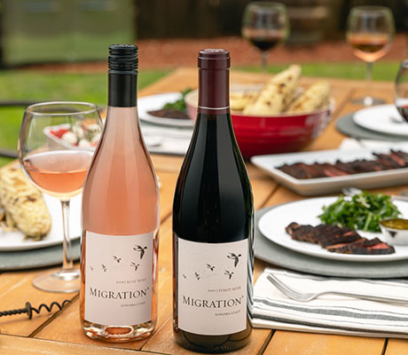 migration pinot noir and rose