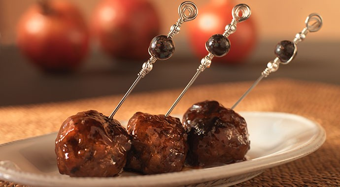 Pomegranate Glazed Lamb Meatballs recipe
