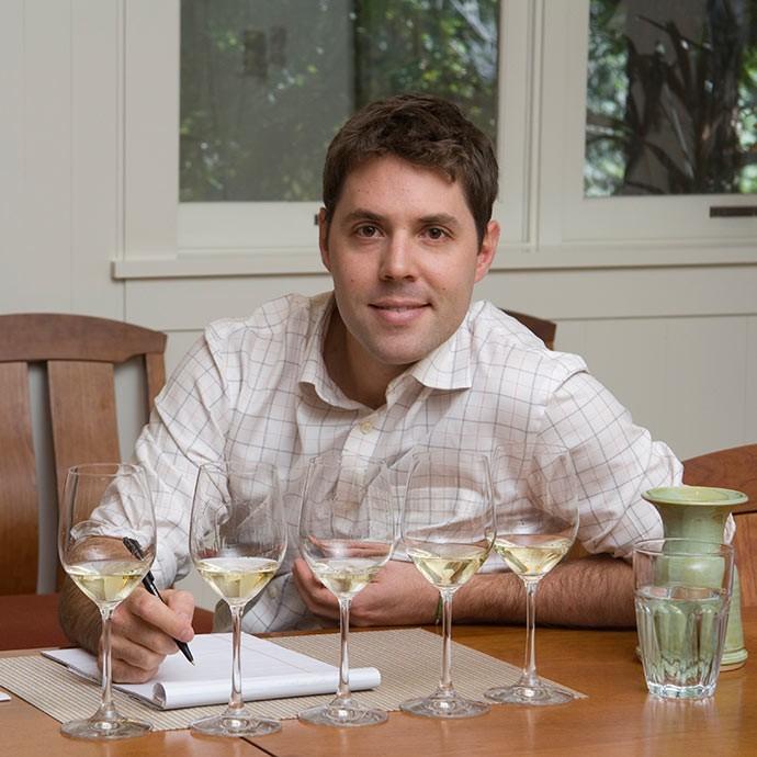 Winemaker Neil Bernardi tasting Migration Chardonnay