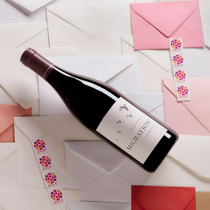 Migration Pinot Noir on top of love letters