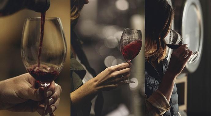 Dana Epperson tasting wine